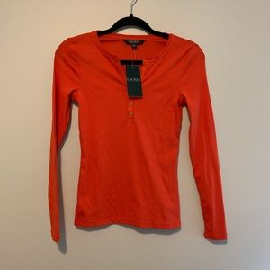 [Ralph Lauren] Women's NWT red long sleeve top